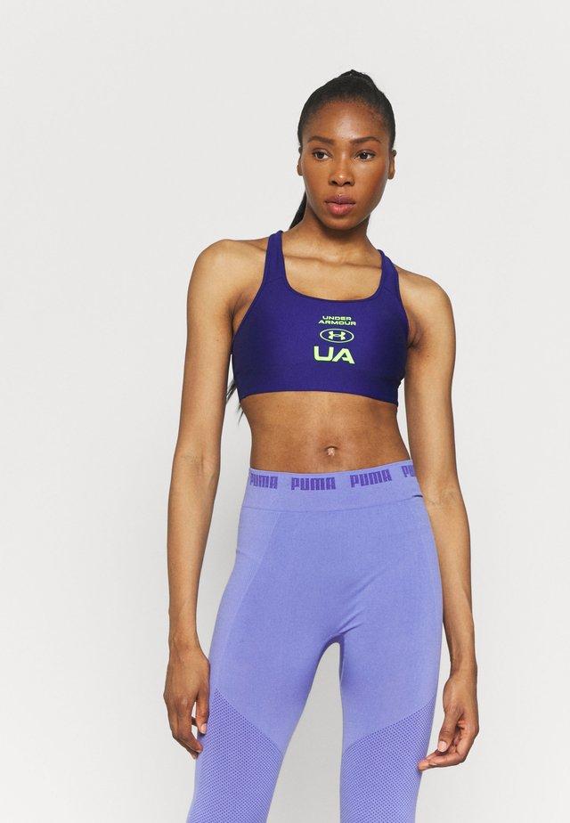CROSSBACK GRAPHIC - Stanik sportowy z wysokim wsparciem - blue