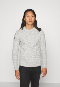 Superdry - JACOB CABLE CREW - Pullover - beige - 0