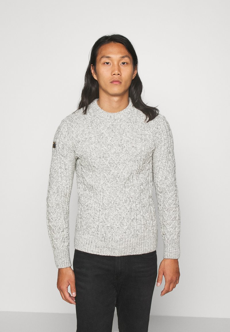 Superdry - JACOB CABLE CREW - Pullover - beige
