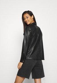 ONLY - ONLALISON JACKET - Faux leather jacket - black - 2