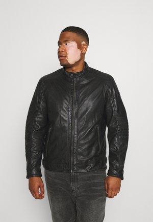 DAVIN - Veste en cuir - black