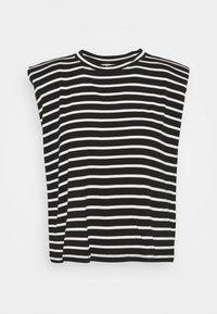 NAF NAF - EPAULETTE RAYE - Print T-shirt - noir/ecru - 0