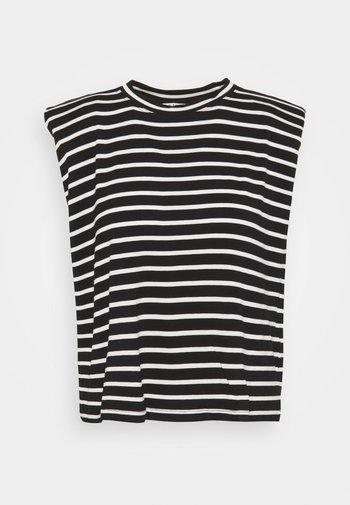 EPAULETTE RAYE - Camiseta estampada - noir/ecru