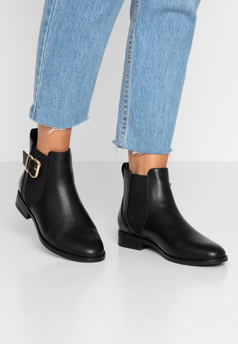 ONLY SHOES - ONLBOBBY ELASTIC BUCKLE - Ankle Boot - black