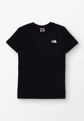 SIMPLE DOME TEE UNISEX - Basic T-shirt - black
