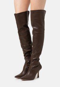 4th & Reckless - FALLON - Kozačky na vysokém podpatku - chocolate - 0