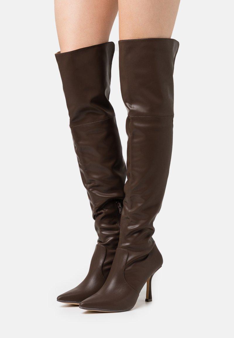 4th & Reckless - FALLON - Kozačky na vysokém podpatku - chocolate