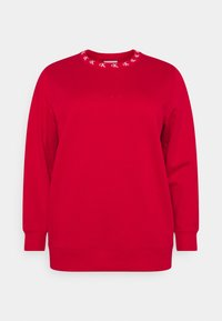 Calvin Klein Jeans Plus - PLUS CK LOGO TRIM NECK  - Sweatshirt - red - 5