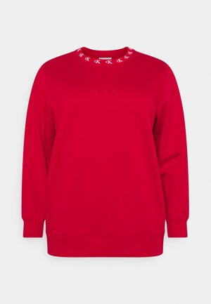 PLUS CK LOGO TRIM NECK  - Sweatshirt - red