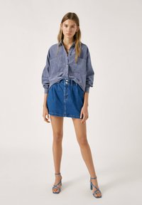 PULL&BEAR - Gonna di jeans - blue - 1
