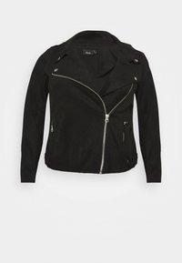 Zizzi - ESUS JACKET  - Faux leather jacket - black - 4