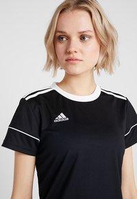 adidas Performance - CLIMALITE PRIMEGREEN JERSEY SHORT SLEEVE - T-shirt med print - black/white - 3