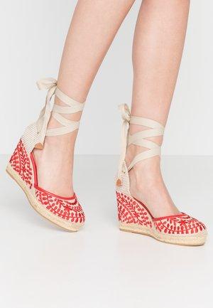 MUSCHINO - High heeled sandals - red