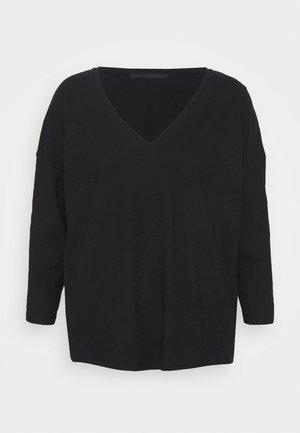 VENJA - Long sleeved top - black