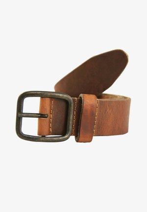 MIT RECHTECKIGER SCHLIESSE - Belt - light brown