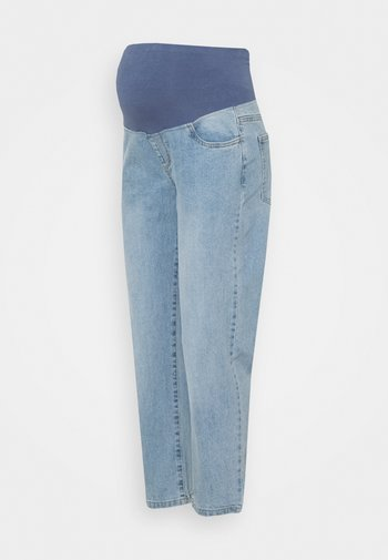 MATERNITY STRETCH MOM OVER BELLY - Straight leg jeans - aireys blue