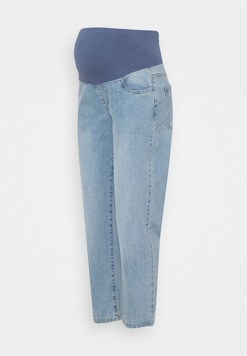 Cotton On - MATERNITY STRETCH MOM OVER BELLY - Straight leg jeans - aireys blue