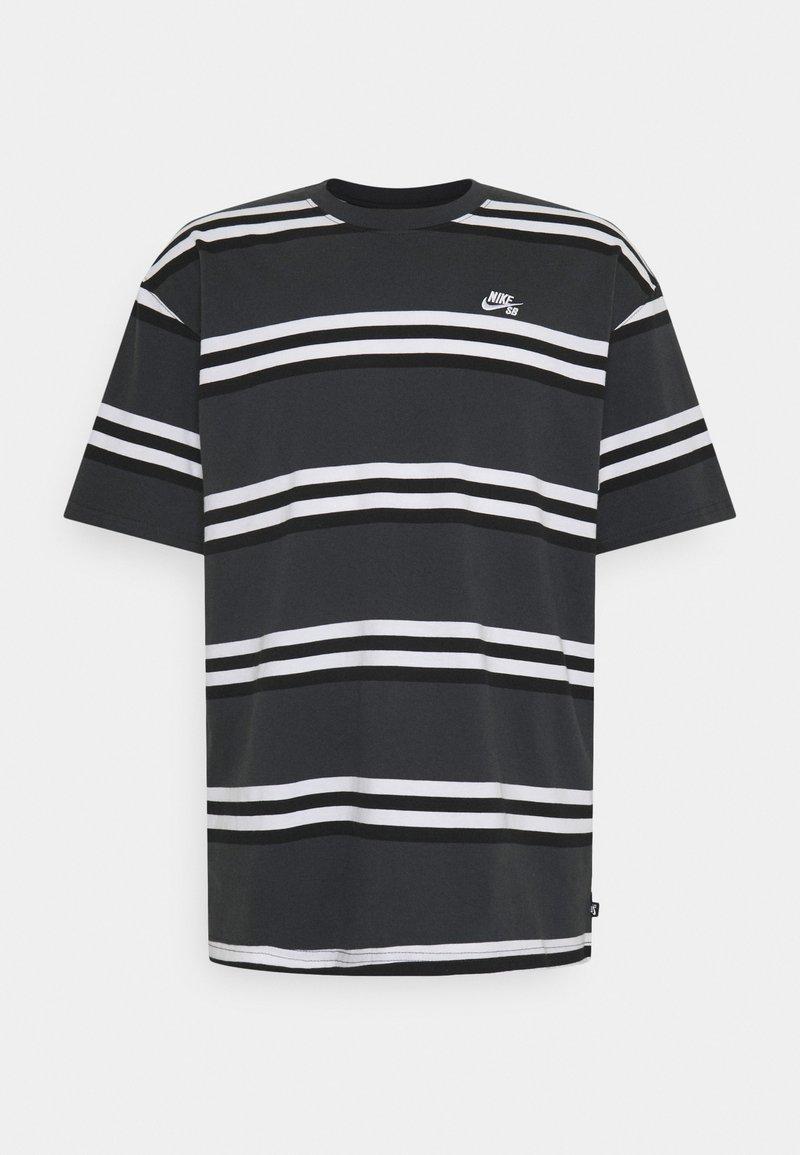 Nike SB - TEE STRIPE UNISEX - Print T-shirt - smoke grey