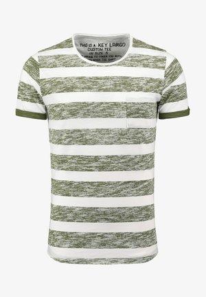 Print T-shirt - white olive