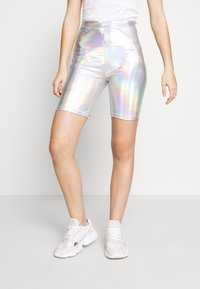 American Eagle - IRIDESCENT  - Shorts - silver - 0