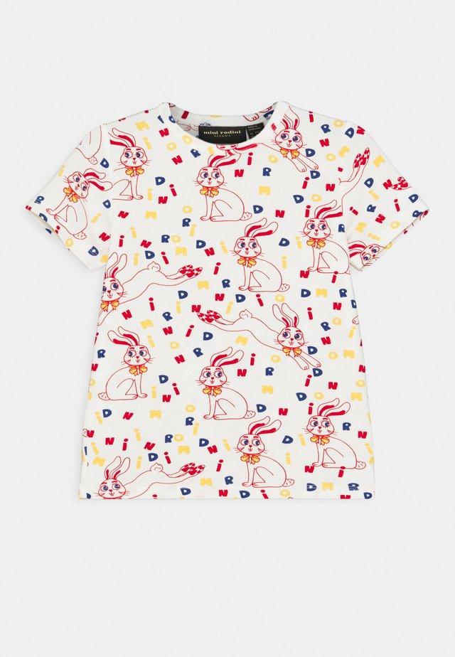 MR RABBIT TEE UNISEX - T-shirt imprimé - offwhite