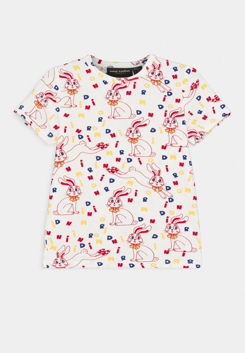 Mini Rodini - MR RABBIT TEE UNISEX - Print T-shirt - offwhite