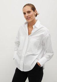 Mango - PROMISE - Button-down blouse - blanc cassé - 0