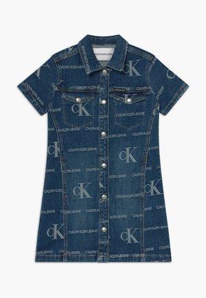 LOGO JACQ DARK  - Denim dress - blue