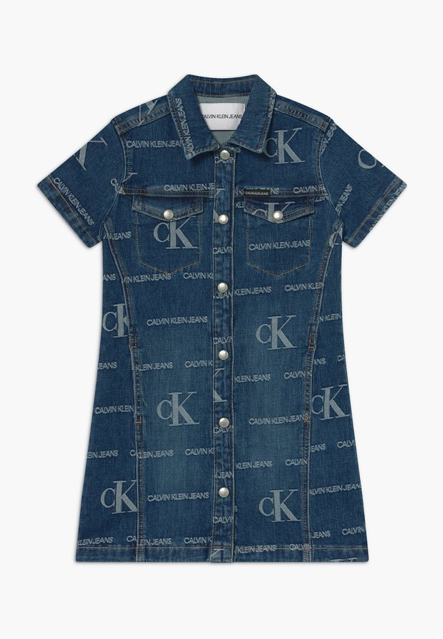 LOGO JACQ DARK  - Denim dress - blue