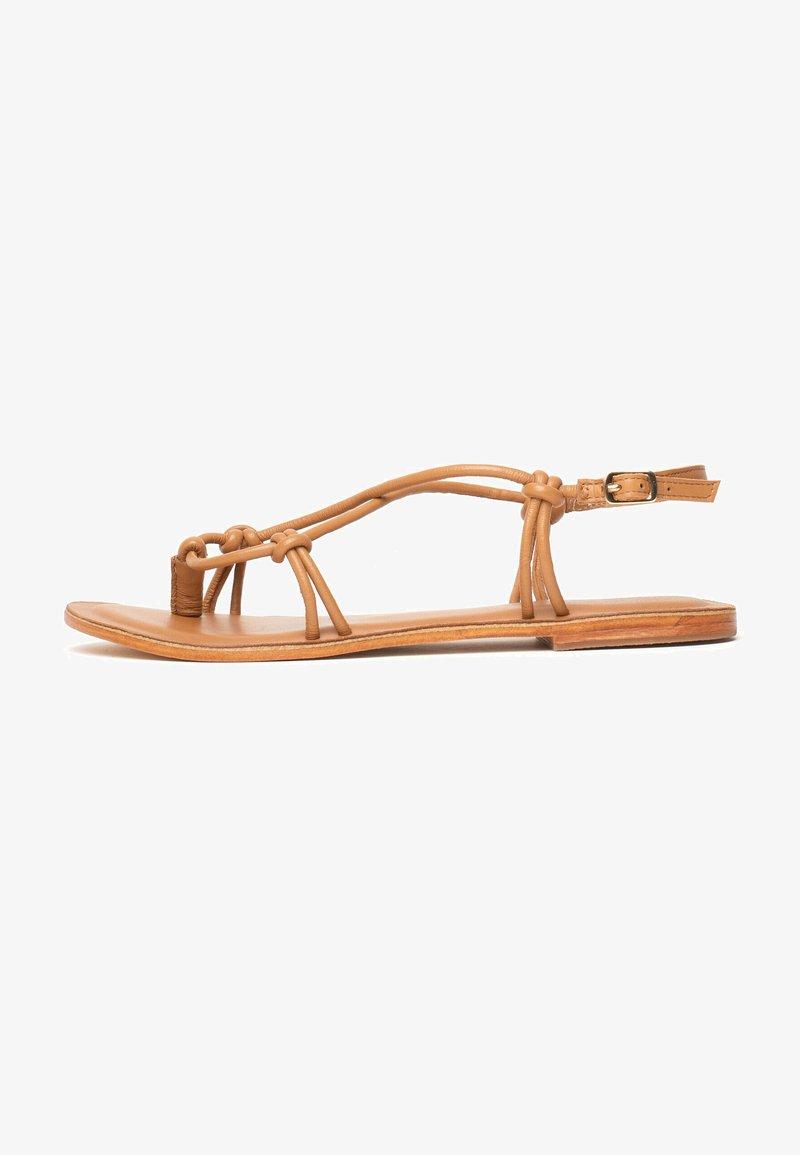 Les Bagatelles - KIKUE - T-bar sandals - tan