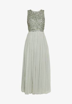 OVERLAY DELICATE SEQUIN DRESS - Cocktail dress / Party dress - green