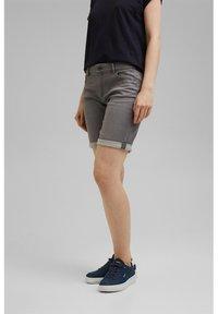 Esprit - Denim shorts - grey medium washed - 3