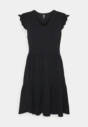 ONLMAY LIFE CAP SLEEVES FRILL DRESS - Jerseyklänning - black