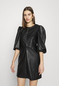 Closet - CLOSET PUFF SLEEVE MINI DRESS - Day dress - black - 0