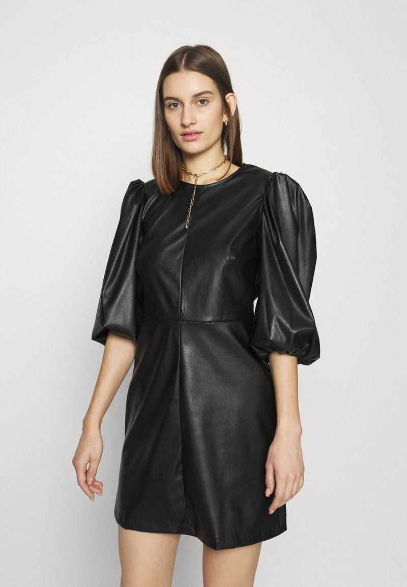 Closet - CLOSET PUFF SLEEVE MINI DRESS - Day dress - black