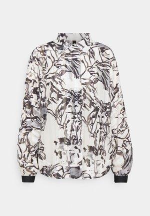 Button-down blouse - white/black