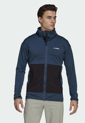 TERREX TECH LITE HOODED HIKING FLEECEJACKE - Fleece jacket - blue