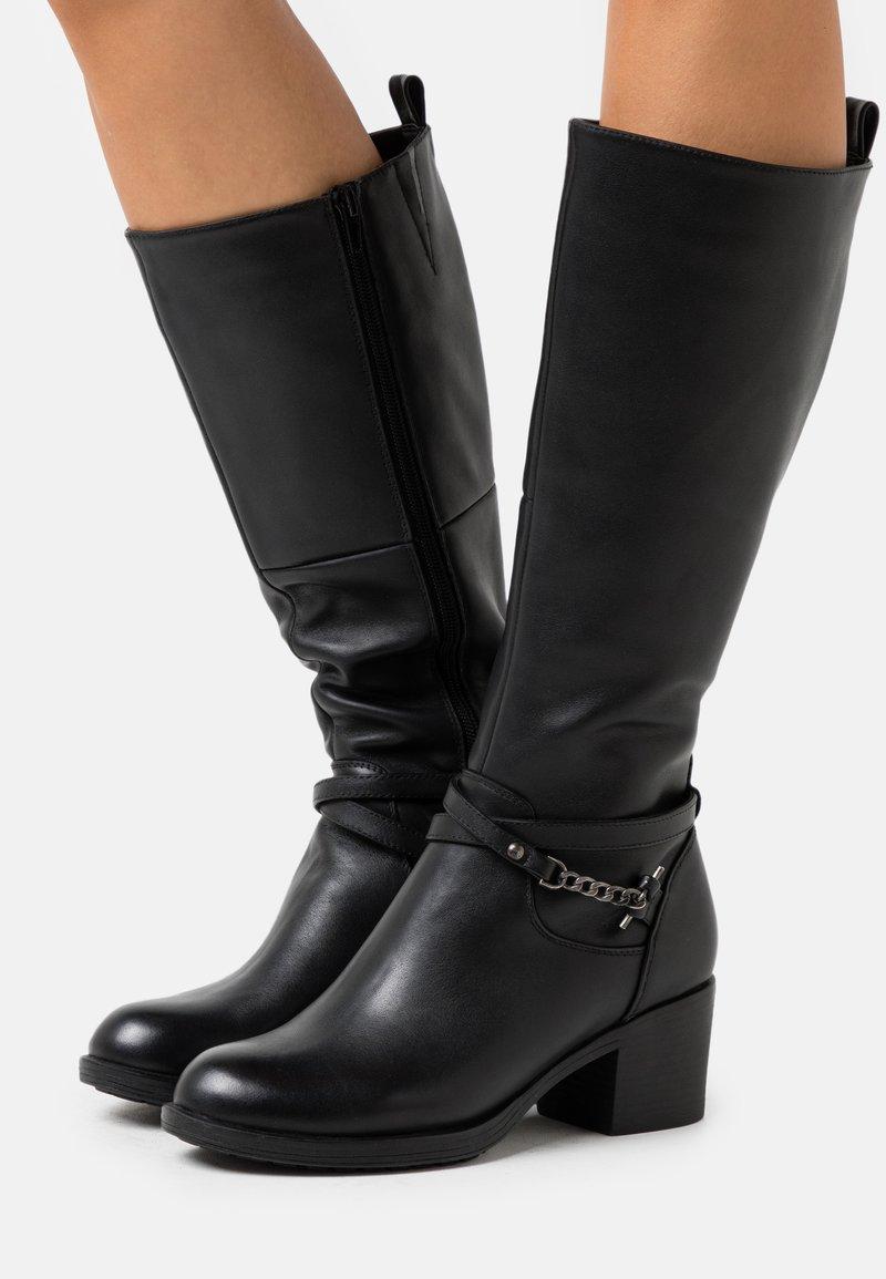Anna Field - LEATHER - Vysoká obuv - black