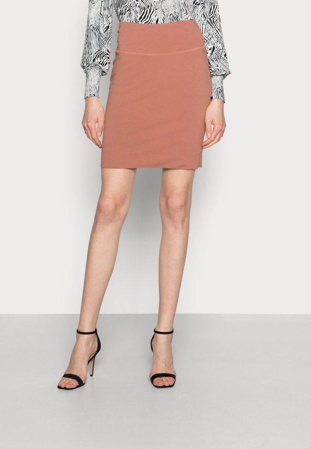 PENNY - Pencil skirt - russet
