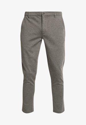 PANTS DAVE BARRO - Tygbyxor - dark grey