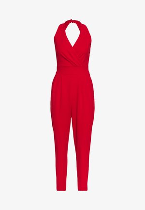 HALTER NECK - Jumpsuit - red