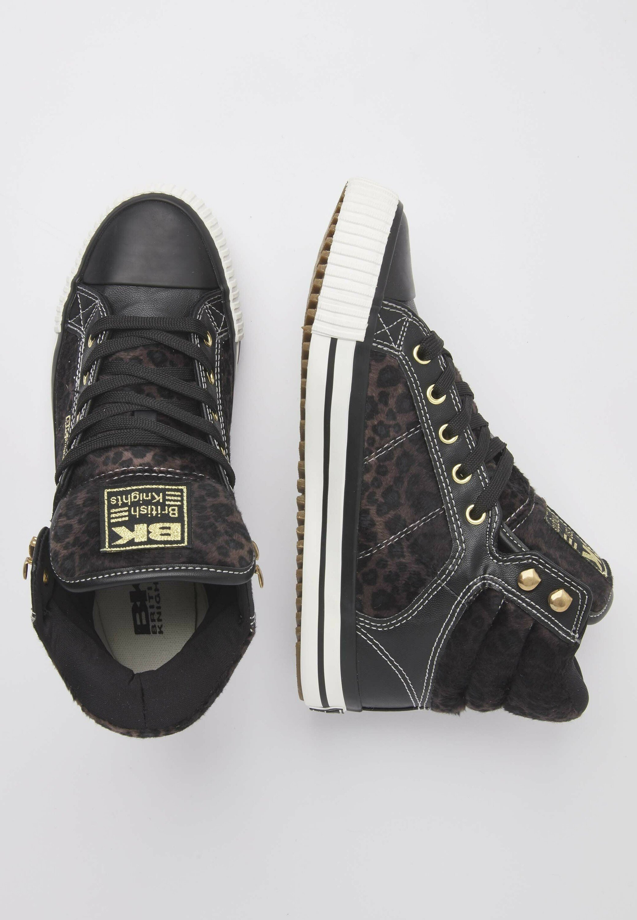 British Knights ATOLL Sneaker high dk grey leopard/black/dunkelgrau