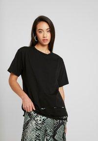 NGHTBRD - PLAYER TEE - T-shirt print - vintage black - 2