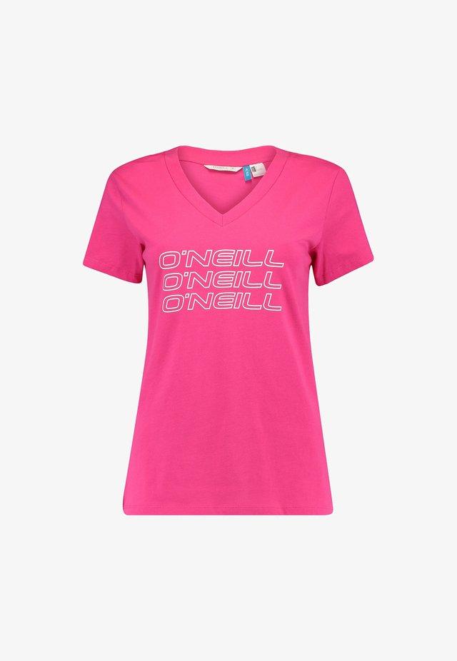 TEES S/SLV TRIPLE STACK V-NECK  - T-shirt print - cabaret