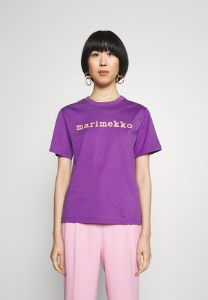 KAPINA LOGO  - T-shirt imprimé - purple light peach