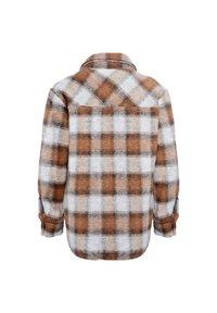 Noella - VIKSA - Short coat - brown checks - 3