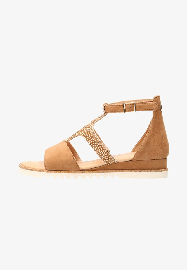 Ankle cuff sandals - cognac / frog tan wh