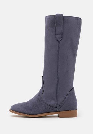 KNEE HIGH SLOUCH BOOT - Botas - navy