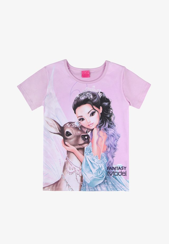 Print T-shirt - orchid bouquet