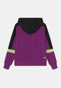 Fila - JAZZ CROPPED HOODY - Sweatshirt - sparkling grape/black/sharp green - 1